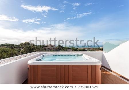 relaxing in jacuzzi stock photo © nyul