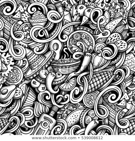 cartoon · americano · mexican · cibo · messicano · simboli - foto d'archivio © balabolka
