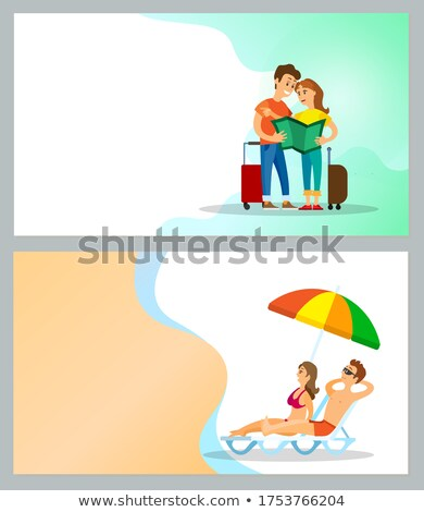 Time to Travel and Warm Countries Relaxation Set Stock photo © robuart