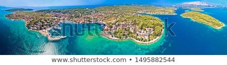 lumbarda on korcula island archipelago aerial panoramic view stock photo © xbrchx