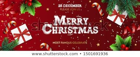karácsony · cukorka · dekoratív · ünnepi · karácsony · szalag - stock fotó © ikopylov