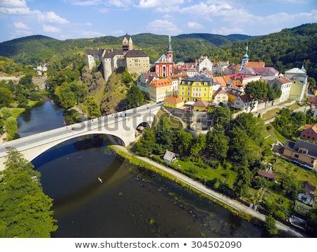 Kasteel toren Tsjechische Republiek markt historisch centrum Stockfoto © borisb17