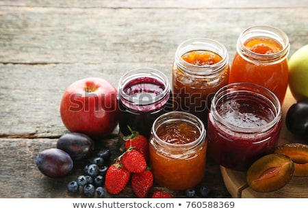 Apricot jam in glass jar Stock photo © furmanphoto