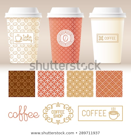 Coffee Tea Drink Cup Package Packaging Vector Icon Stock photo © pikepicture