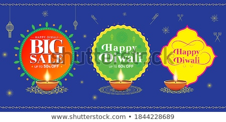 attractive happy diwali festival card design background Stock photo © SArts
