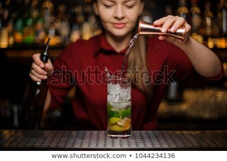 Garçom coquetel vidro bar contrariar Foto stock © wavebreak_media