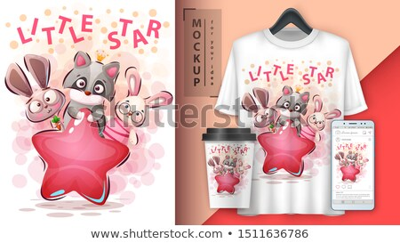 little star animals   mockup for your idea stock photo © rwgusev