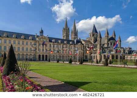 Abdij stadhuis Frankrijk klooster frans stad Stockfoto © borisb17
