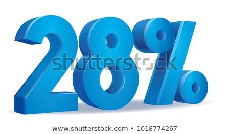 Twintig acht procent witte geïsoleerd 3D Stockfoto © ISerg