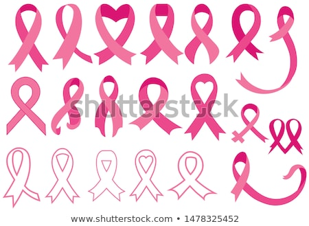 Foto stock: Breast Cancer Awareness Abstract Pink Card Set