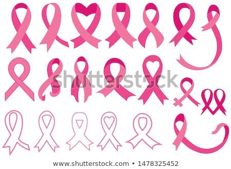 Borstkanker bewustzijn abstract roze kaart ingesteld Stockfoto © cienpies