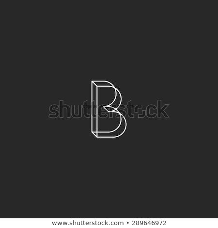 Linéaire géométrique alphabet lettre simple Photo stock © kyryloff