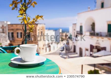 Cappuccino terrasse café Italie servi Photo stock © nito