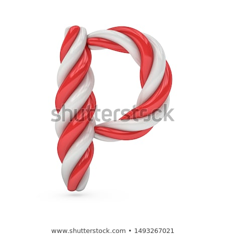 Holiday Font Letter P Isolated Stock photo © Lightsource