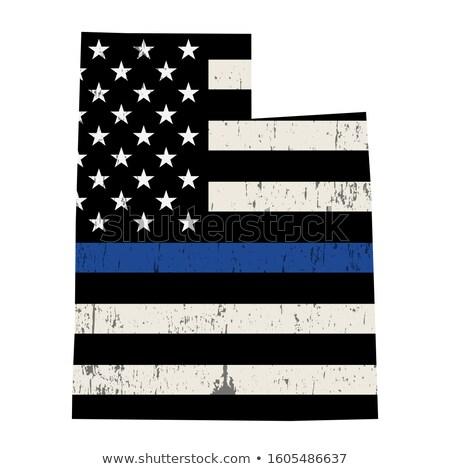 Utah rendőrség támogatás zászló illusztráció forma Stock fotó © enterlinedesign