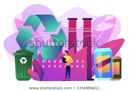 Rifiuti materiale vettore metafore gestione inquinamento Foto d'archivio © RAStudio