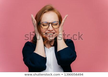 Femminile insegnante orecchie mal di testa rumoroso Foto d'archivio © vkstudio