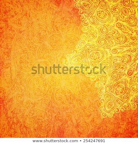 Mandala patronen oranje illustratie natuur achtergrond Stockfoto © bluering