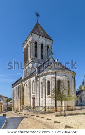 Kilise aziz Fransa mavi seyahat taş Stok fotoğraf © borisb17