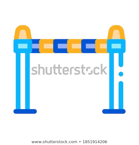 Police Enclosure Icon Outline Illustration Stock photo © pikepicture