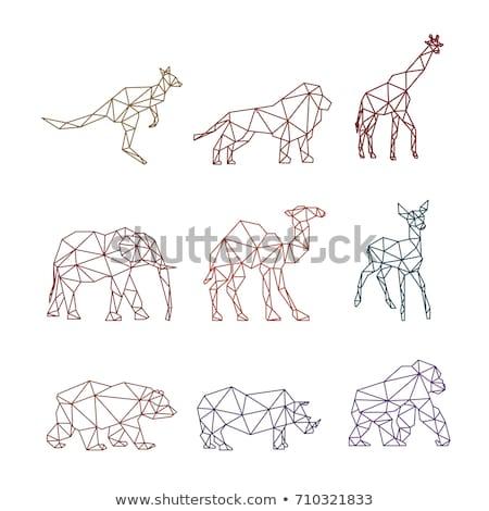 サイ 幾何学的な 行 スタイル シームレス ベクトル ストックフォト © yopixart