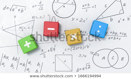 Matemáticas cubos fórmulas símbolos Foto stock © make
