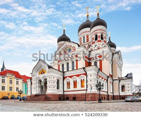 Katedrális Tallinn Észtország ortodox óváros épület Stock fotó © borisb17