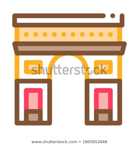 gate arch saint denis icon vector outline illustration Stock photo © pikepicture