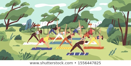 Active pastime on nature at park Stock photo © robuart