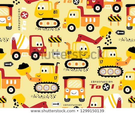 Coal Mining Seamless Pattern Vector Stock photo © pikepicture