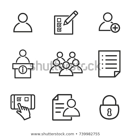 Business membership. Registration of a new member Stock photo © olivier_le_moal