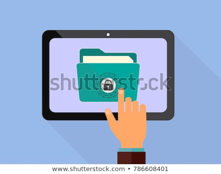 Padlocks. Flat padlock icons for protection privacy, web and mobile apps. Cartoon closed locks. Desi Stock photo © designer_things