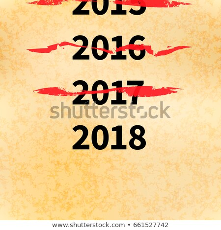 Crossed out years in 2017 calendar, conceptual illustration Stock photo © evgeny89