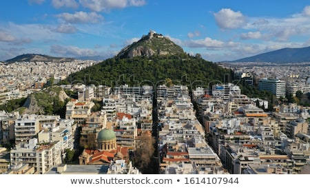 Cityscape of Athens with Lycabettus Hill Stock photo © neirfy