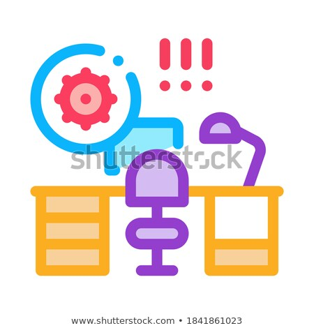 harmful bacteria in working room icon vector outline illustration Stock photo © pikepicture