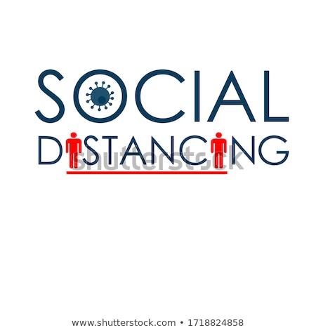 Social distancing abstract concept vector illustration. Stock photo © RAStudio