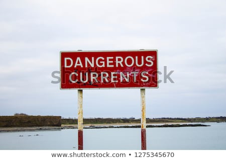 rip tides sign Stock photo © morrbyte