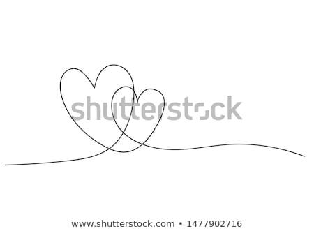 twee · harten · symbool · valentijnsdag · textiel - stockfoto © alrisha