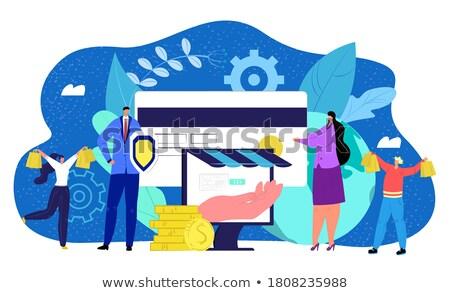 protected creditcard Stock photo © pterwort