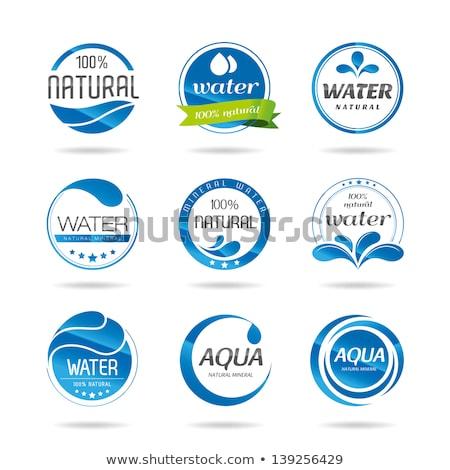 Establecer signos gotas de agua sombra blanco agua Foto stock © Ecelop