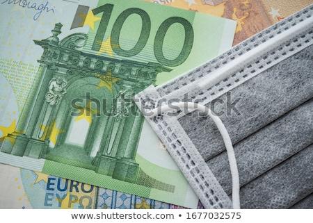 Euro válság pénz szimbólum klinikai hőmérő Stock fotó © sahua