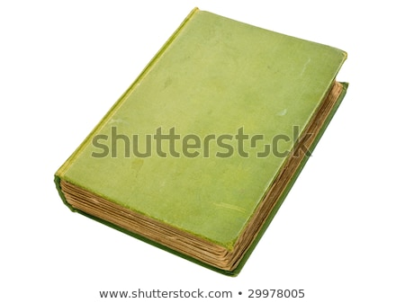 Stock fotó: Retkes · öreg · zöld · könyv · izolált · fehér
