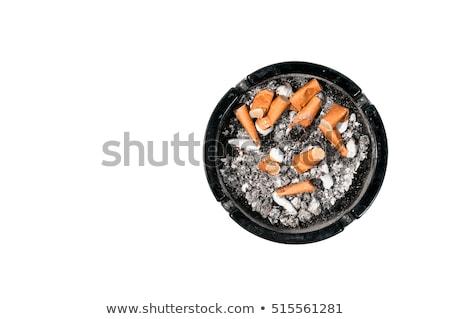 Cigaretta hamutartó fehér Stock fotó © ivelin