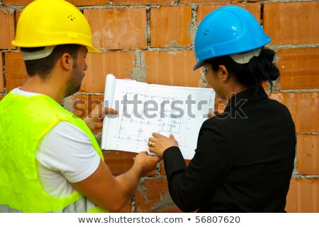 Two female bricklayers Stock photo © photography33
