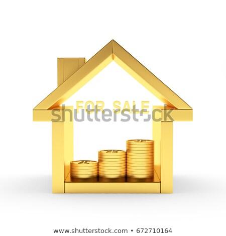 Altın satmak yalıtılmış 3D kutuları siyah Stok fotoğraf © marinini