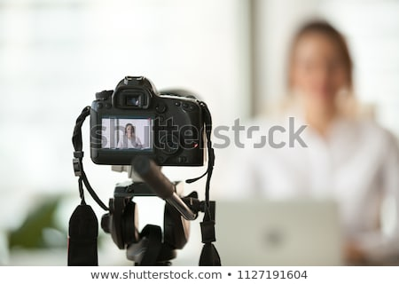 Professionele dslr digitale camera groot macro lens Stockfoto © vichie81