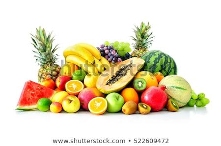 frutas · blanco · grupo · frutas · desayuno - foto stock © M-studio