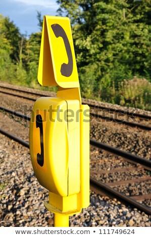 British railway tracks close up. Stock photo © latent