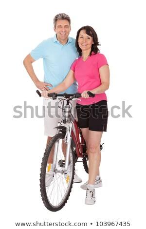 a couple doing mountain bike stock photo © photography33