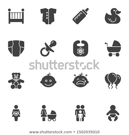 Egyszerű baba cumi ikon mell játék Stock fotó © mitay20